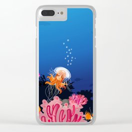 Beautiful Coral Reef Animals Clear iPhone Case