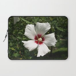 Hibiscus, White Laptop Sleeve