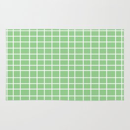Squares of Green Rug