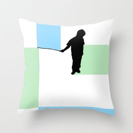 Fishing for Color Throw Pillow