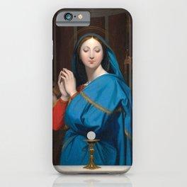 "Jean-Auguste-Dominique Ingres ""The Virgin Adoring the Host"" iPhone Case"