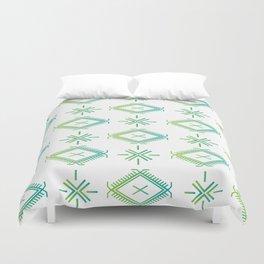 UrbanNesian Green & Turquoise Malu Duvet Cover