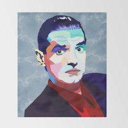 Portrait of Hans Holzel (Falco) Throw Blanket