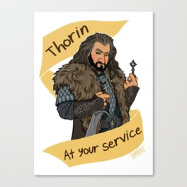 King Dwarf at Your Service Canvas Print