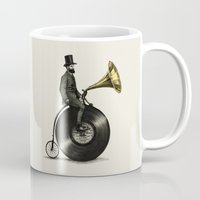 mustache Mugs featuring Music Man by Eric Fan