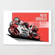 Alex Criville - 1989 Anderstrop Canvas Print