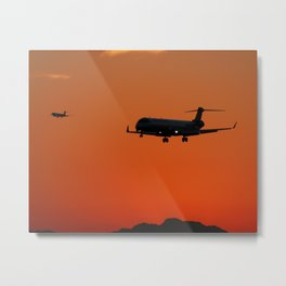 Sunset Arrivals Metal Print