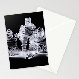 Me Myself and I a long exposure light painting photograp Stationery Cards