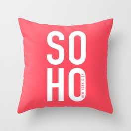 Soho New York Throw Pillow