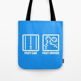 Fast Car - Fast Driver v4 HQvector Tote Bag