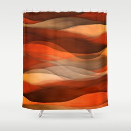 """""""Sea of sand and caramel waves"""" Shower Curtain"""