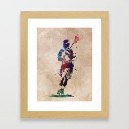 Lacrosse player art 2 Framed Art Print