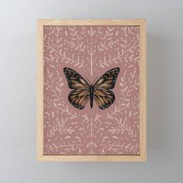 Monarch Pink Floral Framed Mini Art Print
