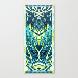 The Reaper War: Control Ending - Quarian Tapestry Art Style (blue/gold ver.) Canvas Print