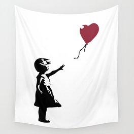 Girl With Red Balloon, Banksy, Streetart Street Art, Grafitti, Artwork, Design For Men, Women, Kids Wall Tapestry