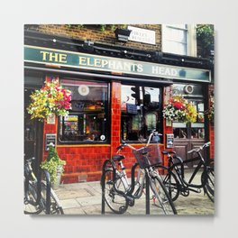 English Pub Life Metal Print