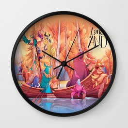 Land of AND - Boat Wall Clock