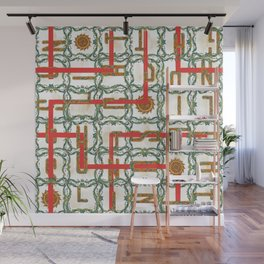 Red Path Wall Mural