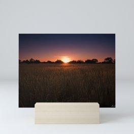 African Kalahari Sunset - Landscape Photography #Society6 Mini Art Print