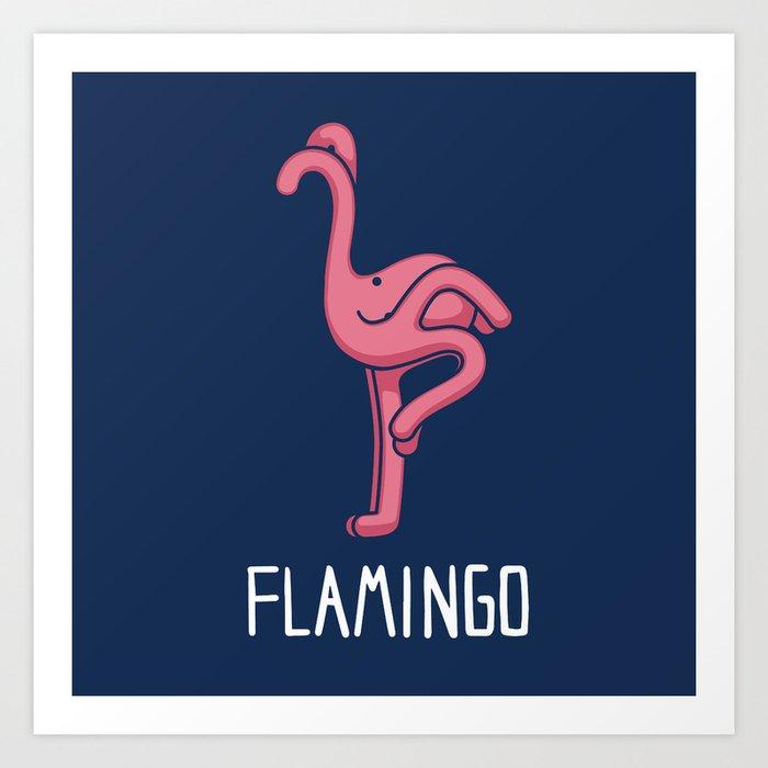 A Flamingo (That is Definitely not an Octopus) Art Print