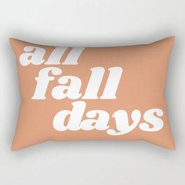 all fall days Rectangular Pillow