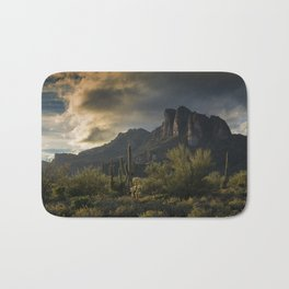 Rainy Day in the Superstitions Bath Mat