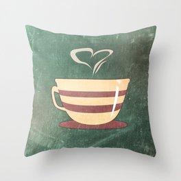 Coffee is love illustration Throw Pillow