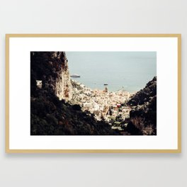 Airy Amalfi Framed Art Print