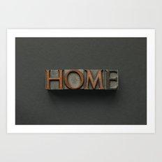 Vintage Home Letters Art Print