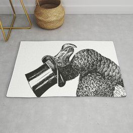 Mr Dodo | Dodo Bird | Extinct Birds | Black and White | Rug