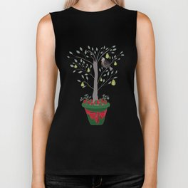 12 Days of Christmas Partridge in a Pear Tree Biker Tank