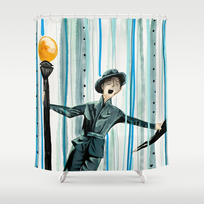 Singing In The Rain Shower Curtains CafePress