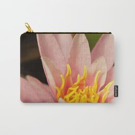 Inside a pink lily Carry-All Pouch