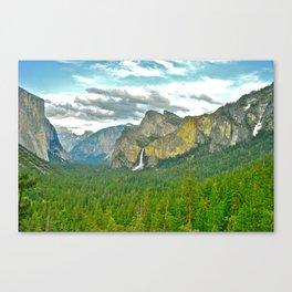 Yosemite POSTCARD Canvas Print