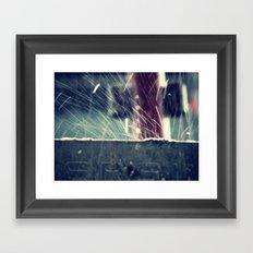 Rain splash 2 Framed Art Print