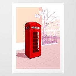 London Telephone Box Art Print