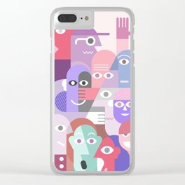 Large Group of People Clear iPhone Case