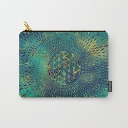 Flower of life Marble and gold Carry-All Pouch