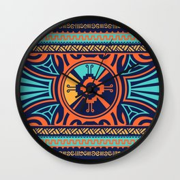 Colorful Hunab Ku Mayan symbol #2 Wall Clock