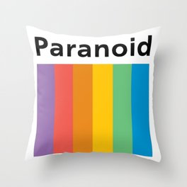 Paranoid logo Throw Pillow