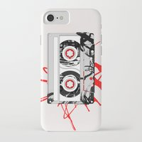 tape iPhone & iPod Cases featuring tape by Sean McFadyen