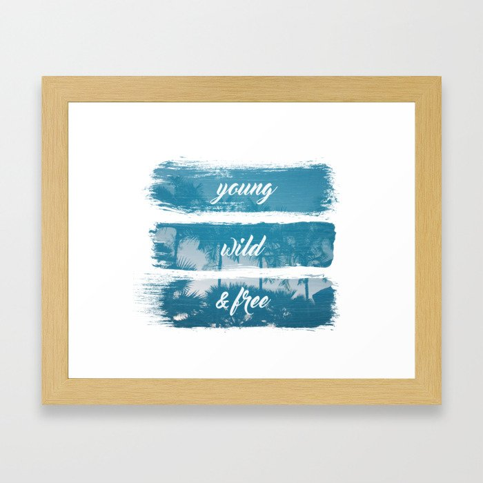 Young wild and free Framed Art Print