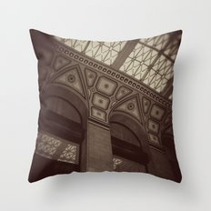 Wintrust Building Columns Original Photo Throw Pillow
