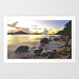 Melones Beach Sunset Art Print