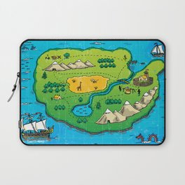 Old pirate's map Laptop Sleeve
