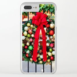 Wreath On The Gate Clear iPhone Case