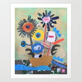 Boat Flowers Art Print