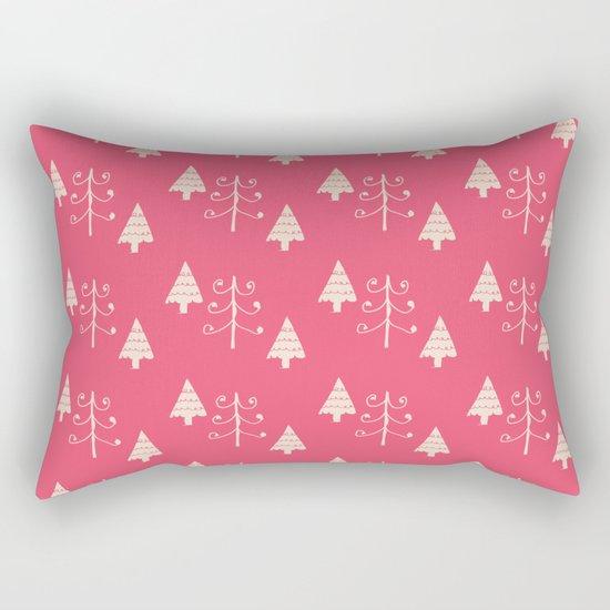 Christmas tree pink Rectangular Pillow