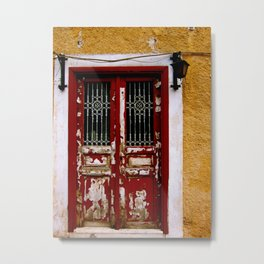 Rustic Grecian Doors  Metal Print