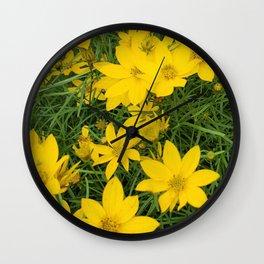 Bright Yellow Wall Clock